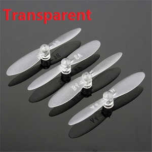 cheerson cx-10w cx-10w-tx quadcopter spare parts main blades (Transparent)