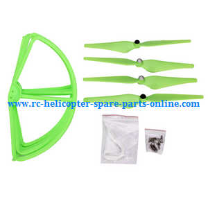 cheerson cx-22 cx22 quadcopter spare parts main blades + protection frame set (Green)