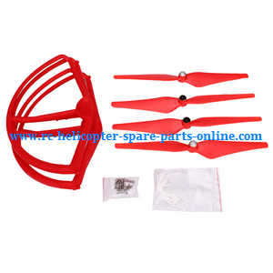 cheerson cx-22 cx22 quadcopter spare parts main blades + protection frame set (Red)