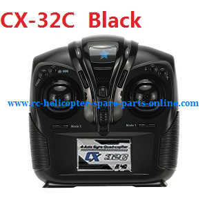 Cheerson cx-32 cx-32c cx-32s cx-32w cx32 quadcopter spare parts transmitter (CX-32C Black)