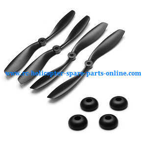 Cheerson CX-35 CX35 quadcopter spare parts main blades (Black) + fixed ring set of the blades