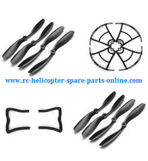 Cheerson CX-35 CX35 quadcopter spare parts main blades (Black 2sets) + protection frame + undercarriage