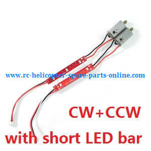 Cheerson CX-35 CX35 quadcopter spare parts CW + CCW motors with short LED bar