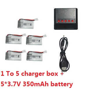 Cheerson 6057 Flying Egg RC quadcopter spare parts 1 to 5 charger box set + 5*battery 3.7V 350mAh