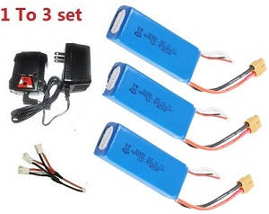 Cheerson CX-91 CX91 quadcopter spare parts 1 to 3 charger box set + 3* 11.1V 1600mAh battery