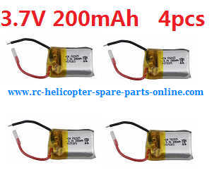 Cheerson CX-OF RC quadcopter spare parts 3.7V 200mAh battery 4pcs