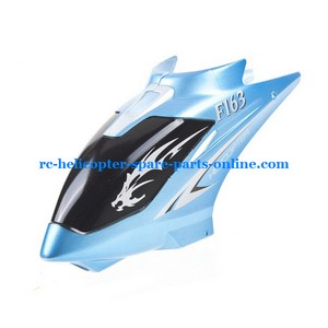 DFD F163 helicopter spare parts head cover blue