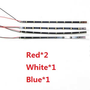 DFD F183 F183D quadcopter spare parts LED bar set (2*red + 1*white + 1*blue)