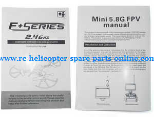 DFD F183 F183D quadcopter spare parts English manual instruction book (F183D H8D)