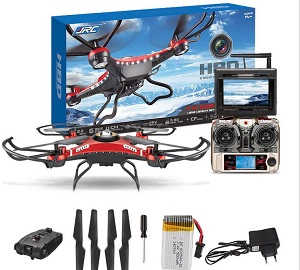 JJRC H8D RC quadcopter with 5.8G FPV camera and monitor