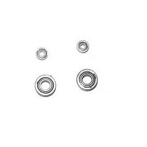MJX F27 F627 RC helicopter spare parts bearing set (2x big + 2x small) 4pcs