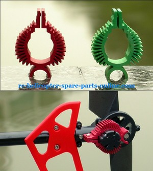 MJX F45 F645 helicopter spare parts heat sink of the tail motor (red color)
