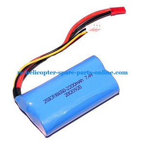 MJX F45 F645 helicopter spare parts battery 7.4v 1500mAh red JST plug