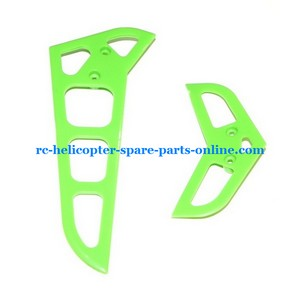MJX F45 F645 helicopter spare parts tail decorative set green