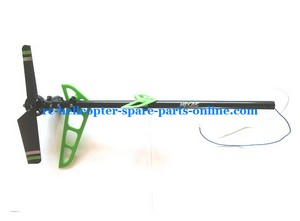 MJX F45 F645 helicopter spare parts tail set green color