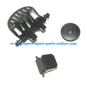 MJX F46 F646 helicopter spare parts motor cover + fixed small plastic parts + top hat (set)
