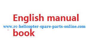 Wltoys WL F949 Cessna-182 Airplanes Helicopter spare parts English manual instruction book