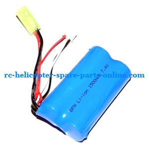 FQ777-502 helicopter spare parts battery 7.4V 1500mAh Yellow EL-2P plug