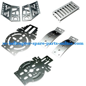 FQ777-502 helicopter spare parts metal frame set