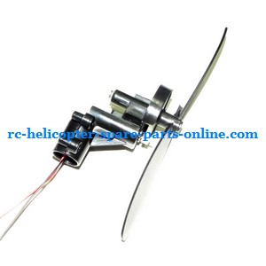 FQ777-555 helicopter spare parts tail blade + tail motor + tail motor deck (set)