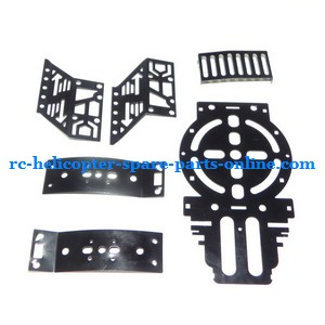 FQ777-555 helicopter spare parts metal frame set