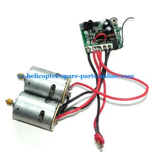 FQ777-603 helicopter spare parts main motors + PCB board frequency: 27Mhz