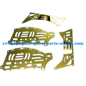 FQ777-777D FQ777-777 RC helicopter spare parts metal frame (Golden)