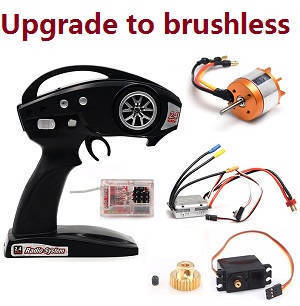 Feiyue FY01 FY02 FY03 FY03H FY04 FY05 RC truck car spare parts upgrade to brushless motor set with transmitter