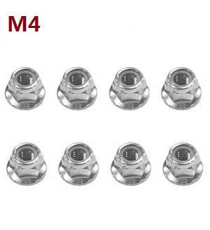 Feiyue FY01 FY02 FY03 FY03H FY04 FY05 RC truck car spare parts M4 nuts 8pcs