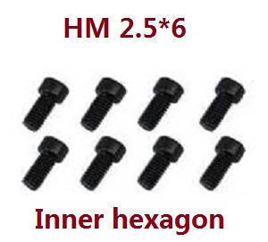 Feiyue FY01 FY02 FY03 FY03H FY04 FY05 RC truck car spare parts inner hexagon screws HM 2.5*6 8pcs