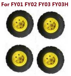 Feiyue FY01 FY02 FY03 FY03H FY04 FY05 RC truck car spare parts tires 4pcs (Yellow) For FY01 FY02 FY03 FY03H