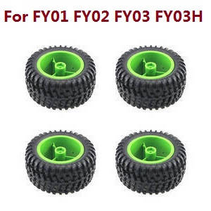 Feiyue FY01 FY02 FY03 FY03H FY04 FY05 RC truck car spare parts tires 4pcs (Green) For FY01 FY02 FY03 FY03H