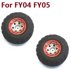 Feiyue FY01 FY02 FY03 FY03H FY04 FY05 RC truck car spare parts tires 2pcs (Red) For FY04 FY05
