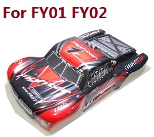 Feiyue FY01 FY02 FY03 FY03H FY04 FY05 RC truck car spare parts upper cover car shell for FY01 FY02 (Red)