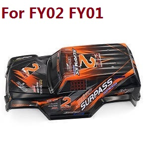 Feiyue FY01 FY02 FY03 FY03H FY04 FY05 RC truck car spare parts upper cover car shell for FY01 FY02 (Orange)