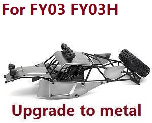 Feiyue FY01 FY02 FY03 FY03H FY04 FY05 RC truck car spare parts upper cover car shell frame assembly for FY03 FY03H (Upgrade to metal Gray)