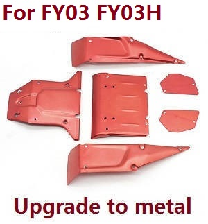 Feiyue FY01 FY02 FY03 FY03H FY04 FY05 RC truck car spare parts car shell for FY03 FY03H (Upgade to metal Red)