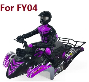 Feiyue FY01 FY02 FY03 FY03H FY04 FY05 RC truck car spare parts car shell with driver and frame assembly for FY04 (Purple)