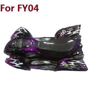 Feiyue FY01 FY02 FY03 FY03H FY04 FY05 RC truck car spare parts car shell for FY04 (Purple)