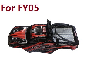 Feiyue FY01 FY02 FY03 FY03H FY04 FY05 RC truck car spare parts car shell with frame assembly for FY05 (Red)