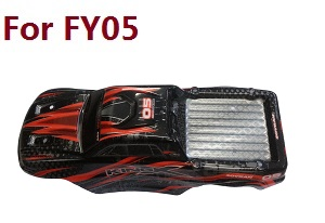 Feiyue FY01 FY02 FY03 FY03H FY04 FY05 RC truck car spare parts car shell for FY05 (Red)
