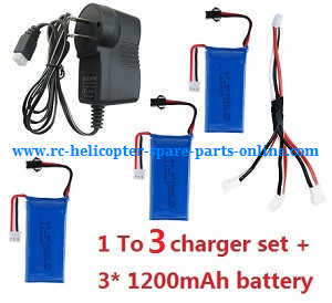 Fayee fy560 quadcopter spare parts 1 to 3 charger set + 3*battery