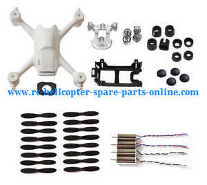 Hubsan H107C+ H107D+ RC Quadcopter spare parts 4sets main blades + 4*motors + body cover + motor cover + foot mats (set)