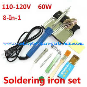 Hubsan H107C+ H107D+ RC Quadcopter spare parts 8-In-1 Voltage 110-120V 60W soldering iron set