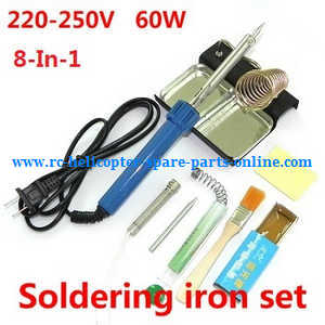 Hubsan H107C+ H107D+ RC Quadcopter spare parts 8-In-1 Voltage 220-250V 60W soldering iron set