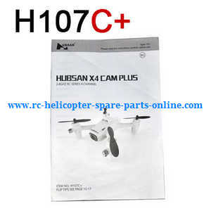 Hubsan H107C+ H107D+ RC Quadcopter spare parts english manual book (H107C+)
