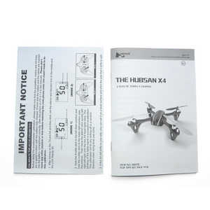 H107C H107D Hubsan X4 RC Quadcopter spare parts english manual book (H107C)