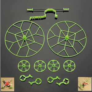 Hubsan H111 H111C H111D RC Quadcopter spare parts upgrade protection frame set (Green)
