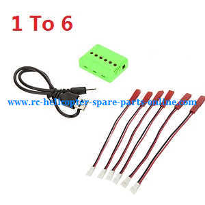 JJRC H11 H11C H11D H11WH RC quadcopter spare parts 1 to 6 charger box and connect plug wire