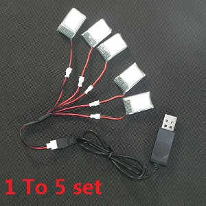 JJRC H20 quadcopter spare parts 1 To 5 wire set + 5*battery (set)